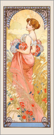 Alfons Mucha - Seasons - Summer
