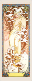Alfons Mucha - Seasons - Winter