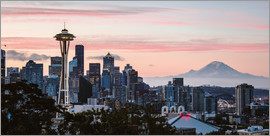 Matteo Colombo - Seattle panoramic with Mount Rainier, USA