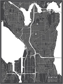 Main Street Maps - Seattle USA Map