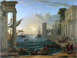 Claude Lorrain - Seaport with the Embarkation of the Queen of Sheba