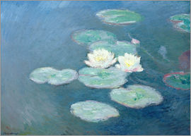 Claude Monet - Waterlilies, Evening