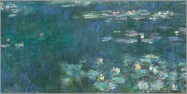 Claude Monet - Water Lilies, Green Reflections 2