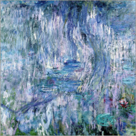 Claude Monet - Waterlilies and Reflections of a Willow Tree, 1916-19