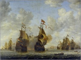 Jan Beerstraten - Naval Battle.