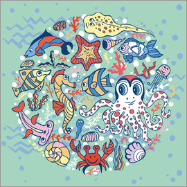 Kidz Collection - Sea life in a circle