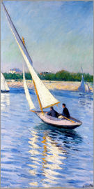 Gustave Caillebotte - Sailboat on the Seine at Argenteuil