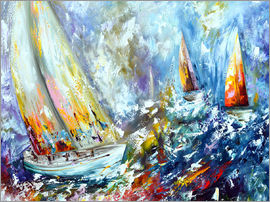 Theheartofart Gena - Sailboats in storm