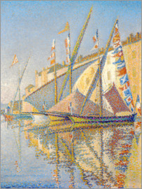 Paul Signac - Sailing boats at the port of Saint Tropez