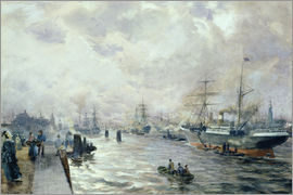 Carl Rodeck - Sailing Ships in the Port of Hamburg