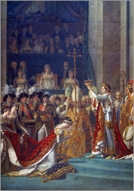 Jacques-Louis David - Krönung Napoleons I. u. Kaiserin Josephines in Notre-Dame (Detail). 1806/07