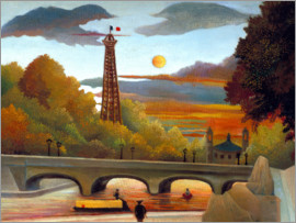 Henri Rousseau - Seine and Eiffel Tower in the evening sun