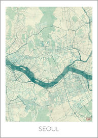 Hubert Roguski - Seoul Map Blue
