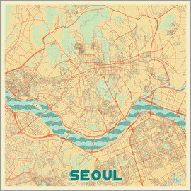 Hubert Roguski - Seoul Map Retro