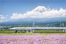 Jan Christopher Becke - Shinkansen train goes past Mount Fuji in Shizuoka, Japan