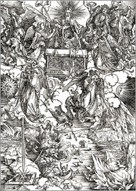 Albrecht Dürer - Seven angels with trumpets