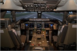 Simulator of a Boeing 747