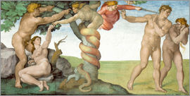 Michelangelo - Sistine Chapel Ceiling : The Fall of Man