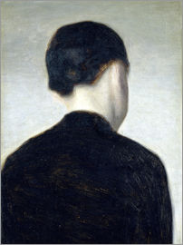 Vilhelm Hammershoi - Seated Figure, Seen from Behind 1884