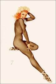 Alberto Vargas - Sitting Pretty, February Pin Up