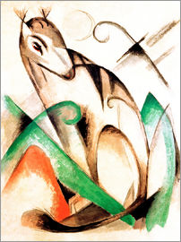 Franz Marc - Mythical Creature Sitting