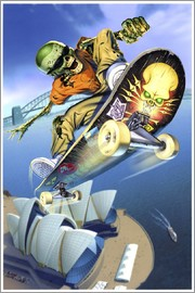 Extreme Zombies - Skateboarding over Opera House