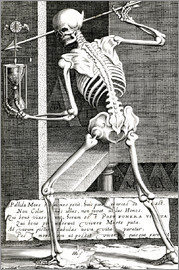 Skeleton with hourglass
