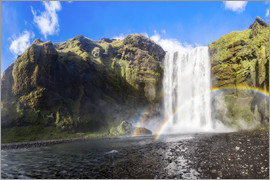 Dieter Meyrl - Skogafoss waterfall in south of Iceland