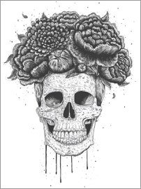 Valeriya Korenkova - Skull with flowers