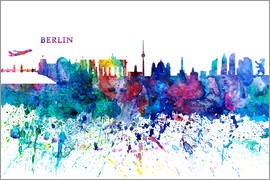 M. Bleichner - Skyline BERLIN Colorful Silhouette PL