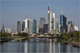 Frankfurt am Main Sehenswert - Skyline Frankfurt am Main Shining Morning