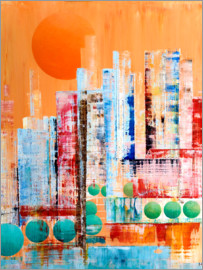 Gerhard Kraus - Skyline New York, abstract