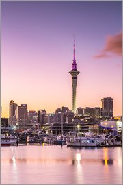 Matteo Colombo - Skyline of Auckland city and harbour at sunrise, New Zealand