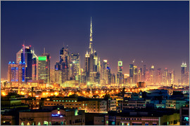 Hessbeck Photography - Dubai skyline at night