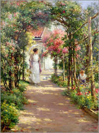 William Kay Blacklock - Summer in the garden