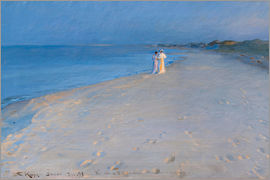 Peder Severin Kroyer - Summer evening at the South Beach