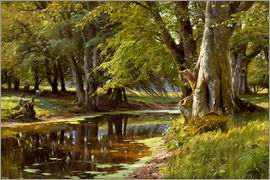 Peder Mork Mönsted - Summer day at forest stream