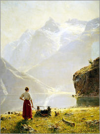 Hans Dahl - Summer day on a Norwegian fjord