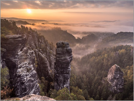 Andreas Wonisch - Sunrise in the Saxon Switzerland