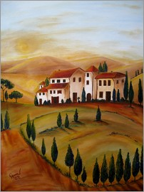 Christine Huwer - Sunrise in Tuscany