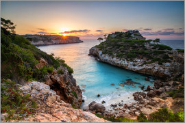 Dennis Fischer - Sunrise with beautiful bay, Majorca, Spain