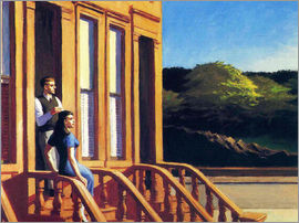 Edward Hopper - sunlight on brownstones