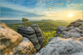 Michael Valjak - Sunset on Gohrisch in Saxon Switzerland