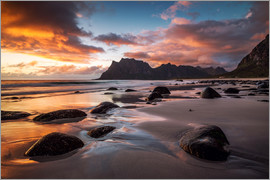 Dennis Fischer - Sunset in Lofoten, Norway