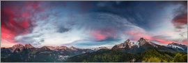 Moqui, Daniela Beyer - Sunset over the Berchtesgaden