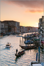 Matteo Colombo - Sunset over the Grand Canal in Venice, Italy