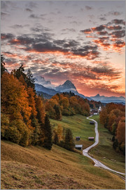 Achim Thomae - Sunset over Zugspitze Mountain, Bavaria
