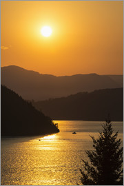 Bill Collins - Sunset over Howe Sound