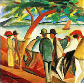August Macke - Stroller on the lake