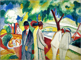 August Macke - People Strolling